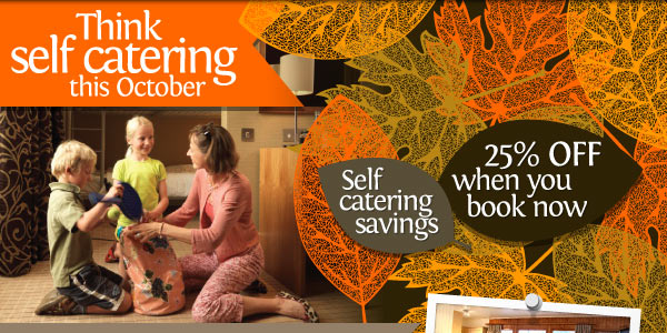 Think self catering this October. 25% off when you book now.