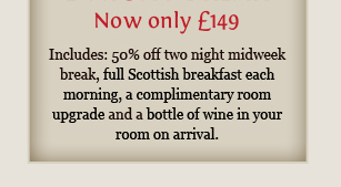 1 night break<br /><br /><br />                                                                     Now only ?79 per night / 2 Night Break Now only ?149 per night