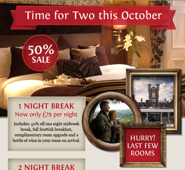 Crieff Hydro 50% October Flash Sale