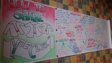 Graphic recording of 'How to share your cloak'