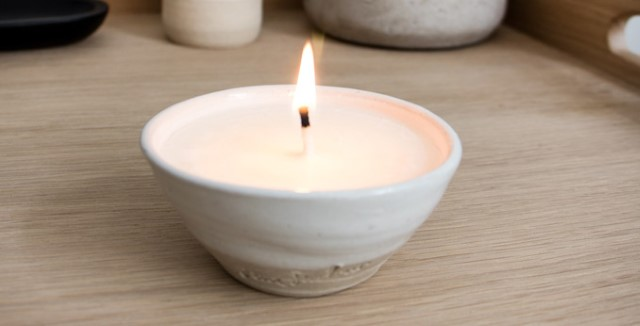 Artisan Candle Bowl, Small - Ceramic