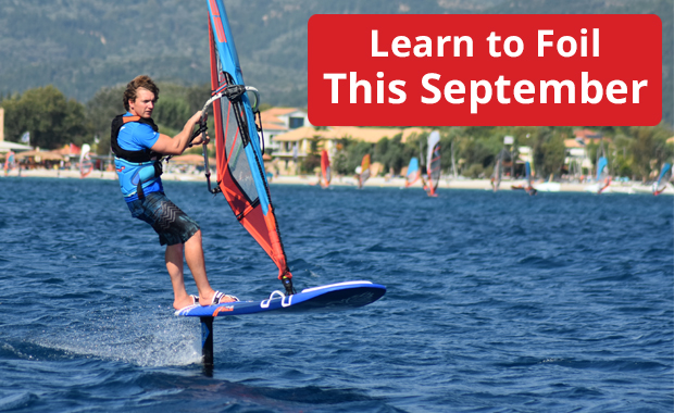 Windsurf Foiling in Vassiliki