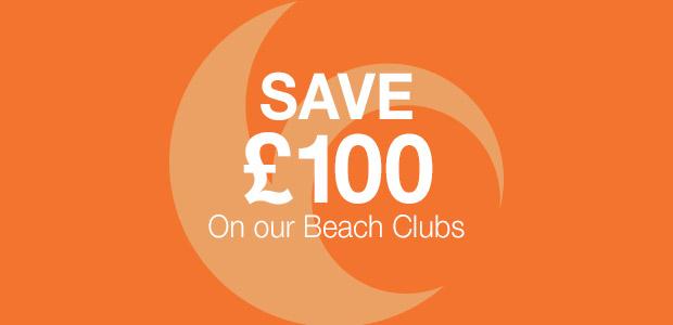 Save £100 Off Beach Club Holidays