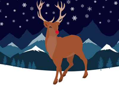 Why a reindeer might have a red nose