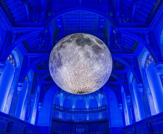 Museum of the Moon pictured at the University of Bristol