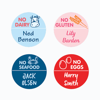NAME LABELS ALLERGY MEDIUM ROUND