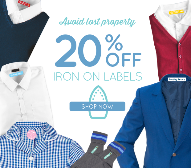 20% OFF IRON ON LABELS