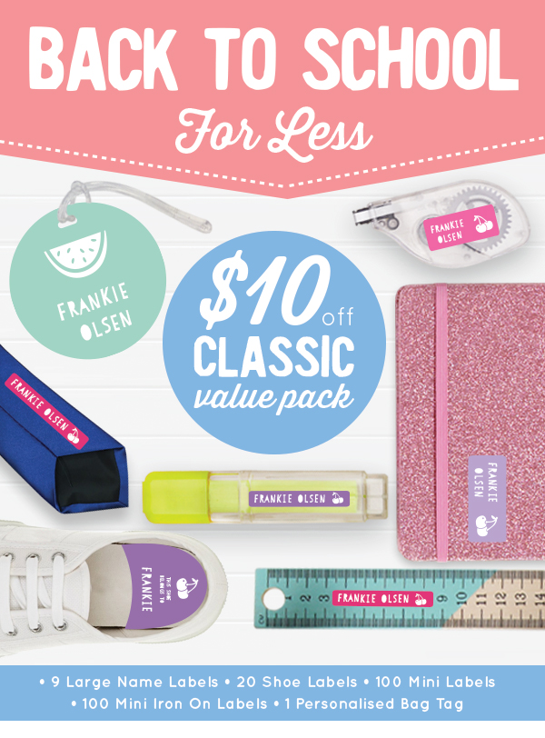 BACK TO SCHOOL FOR LESS. $10 off Classic Value Pack.