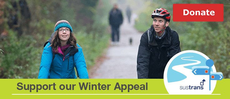 We're the charity making it easier for people to walk and cycle.