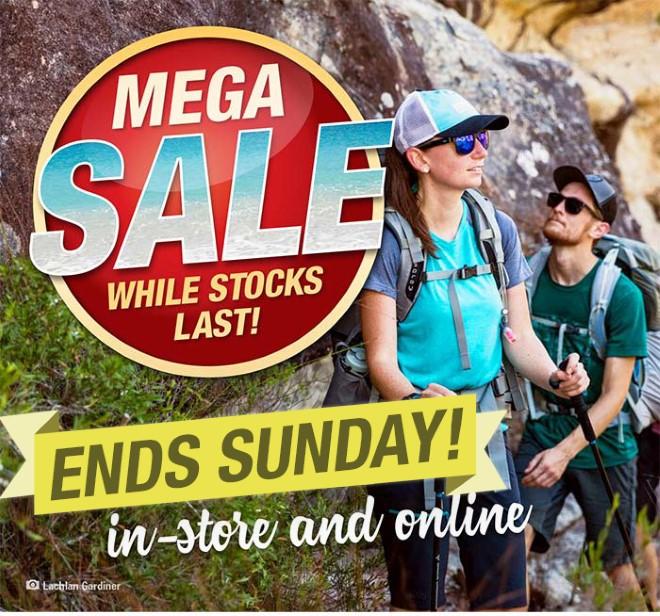 Mega Sale ends Sunday! Shop in store or online!
