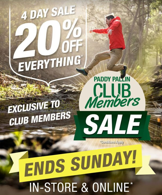 Paddy Pallin Club Members Sale
