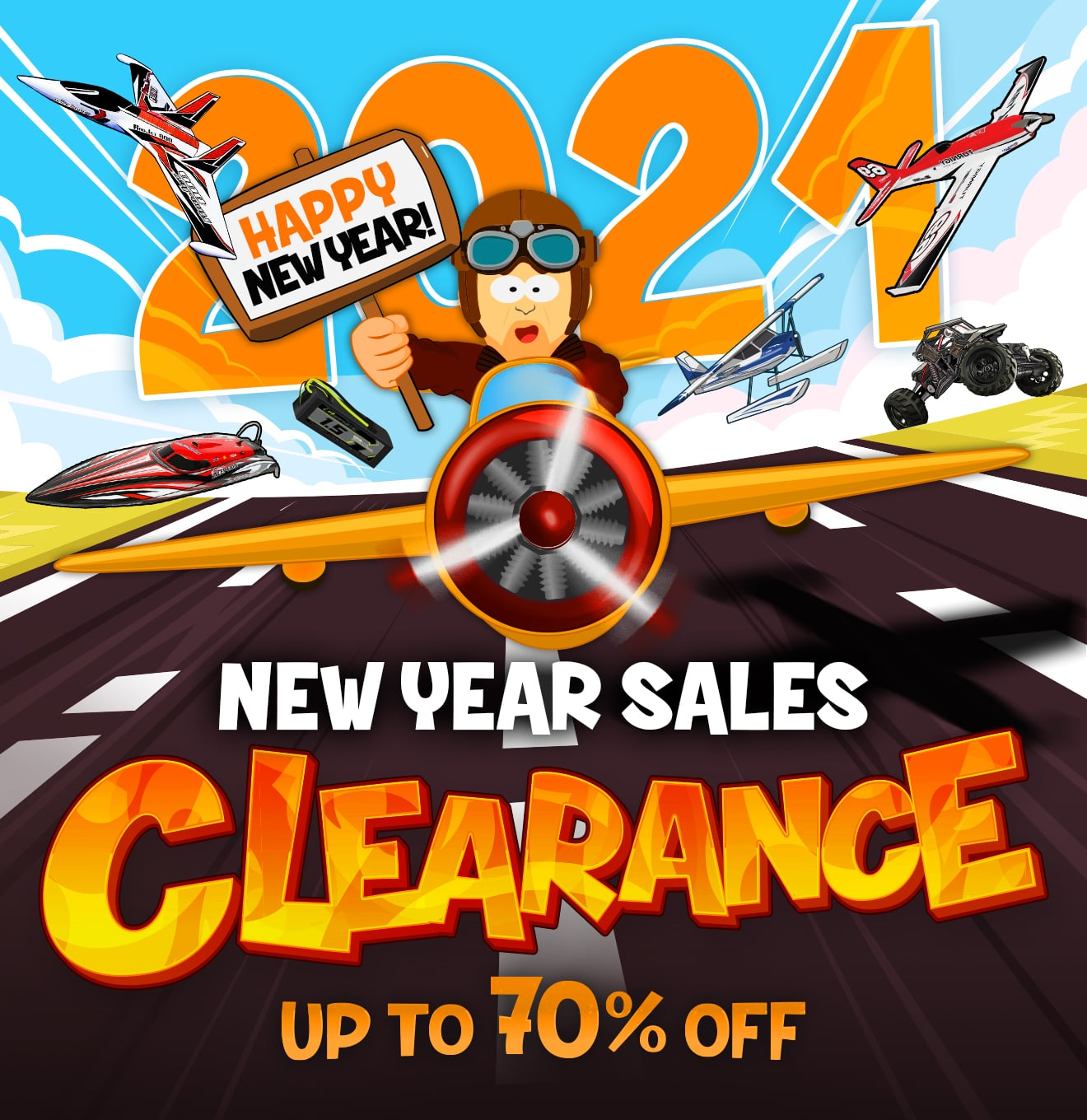 New Year Sales Clearance Up To 70% OFF - Shop Now!
