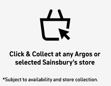 Click and Collect at any Argos or selected Sainsbury's Store
