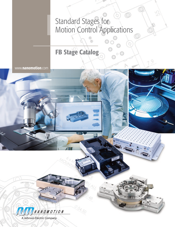 Nanomotion FB Stage Catalog - Standard stages for motion control applications