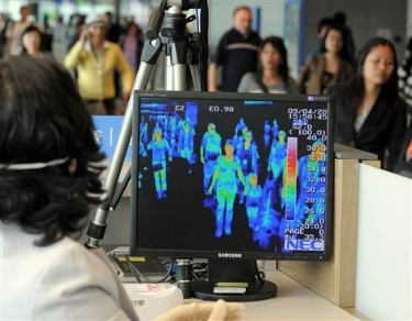 screening passengers with an infrared camera