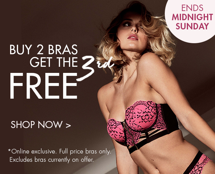 Buy 2 Bras, Get The 3rd Free