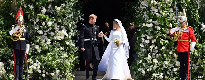 TRH The Duke and Duchess of Sussex as they leave St George's Chapel, Windsor Castle