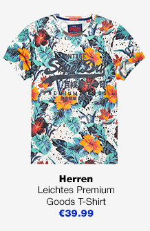 Leichtes Premium Goods T-Shirt Mit Hibiskus-Motiv