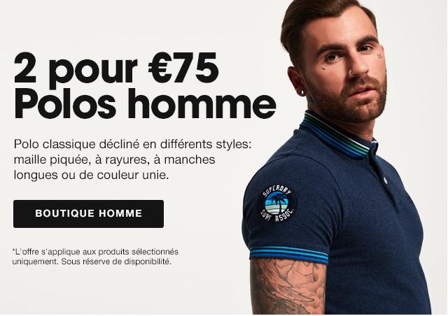 2 pour €75 Polos homme