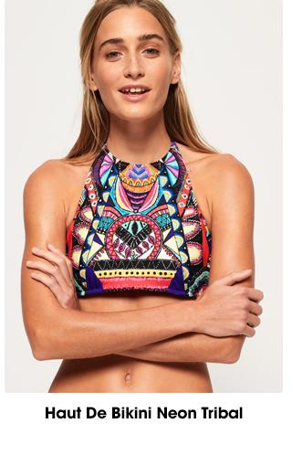 Haut De Bikini Neon Tribal