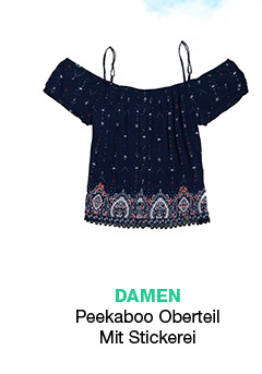 Peekaboo Embroidered Top