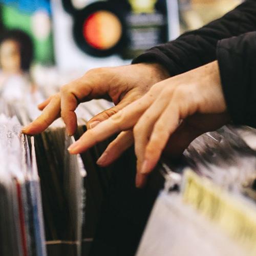 Flipping through records