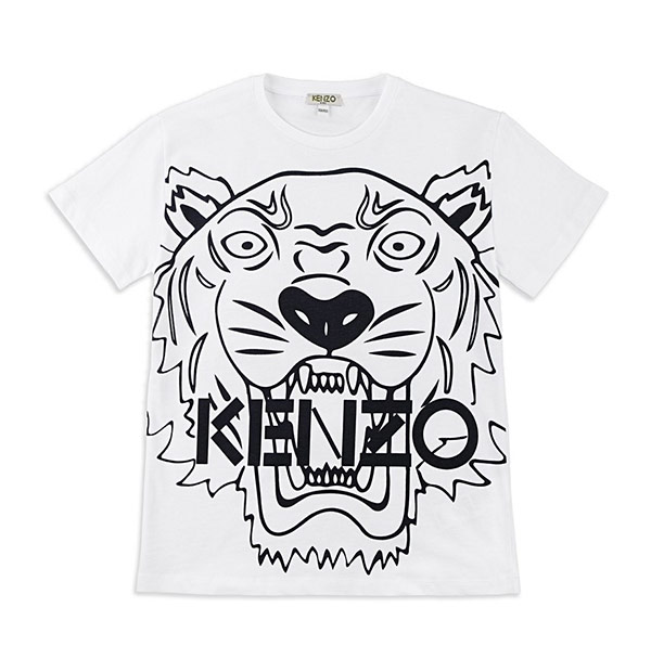 Boys Tiger Head Graphic T-Shirt - White