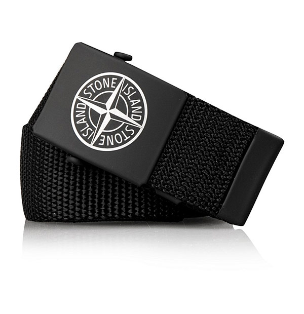 Boys Canvas Logo Belt - Black