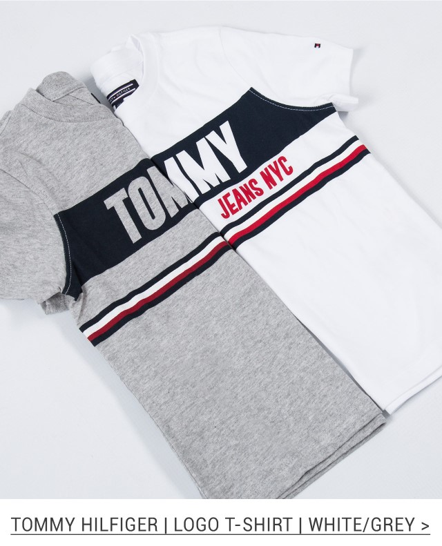 Boys 'Tommy Jeans' Logo T-Shirt - White