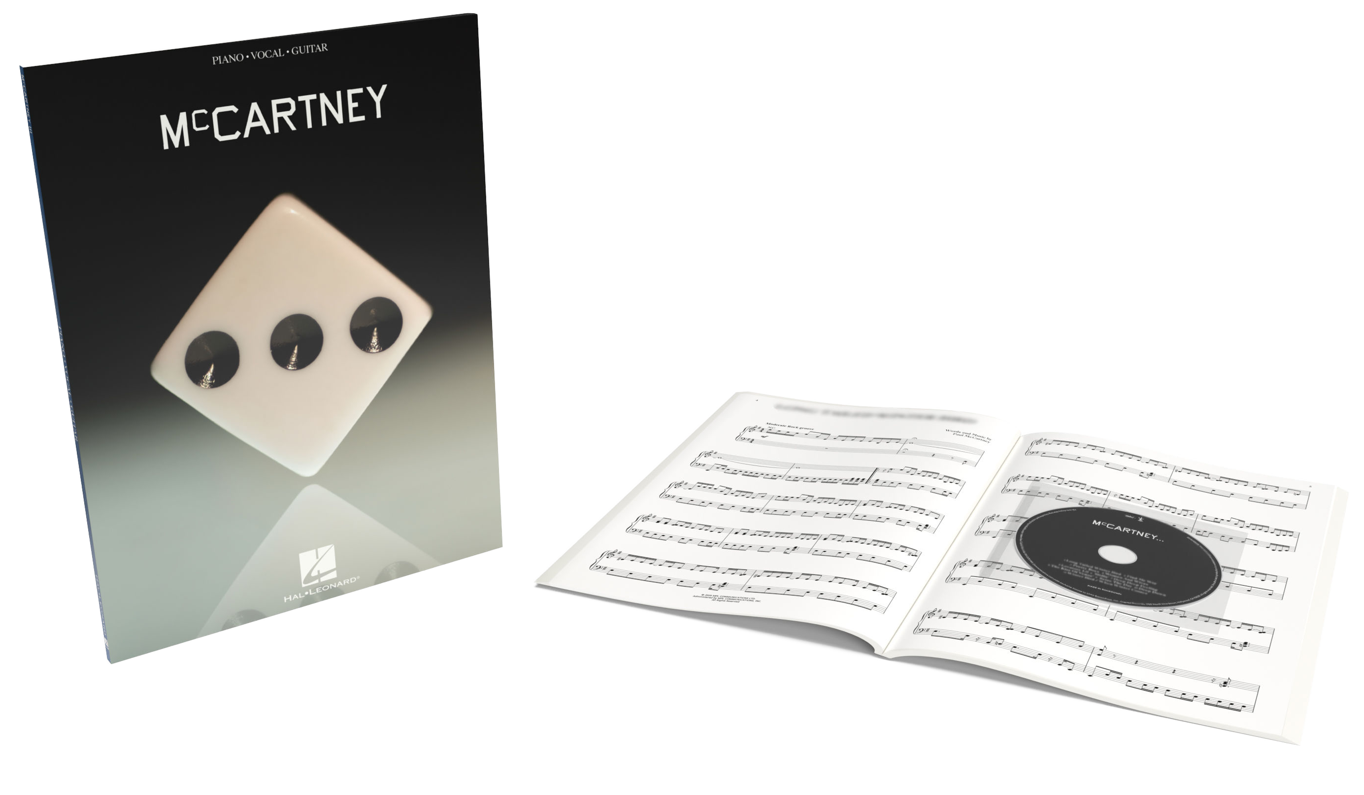 Picture of the 'McCartney III' official songbook