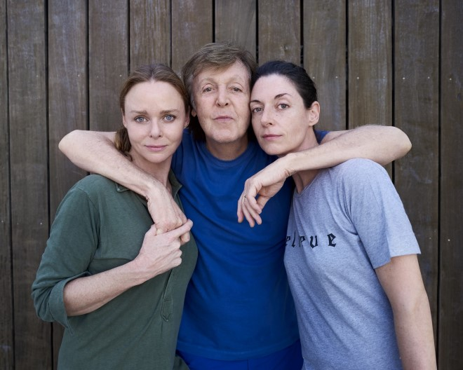 Photo of Stella, Paul and Mary McCartney.