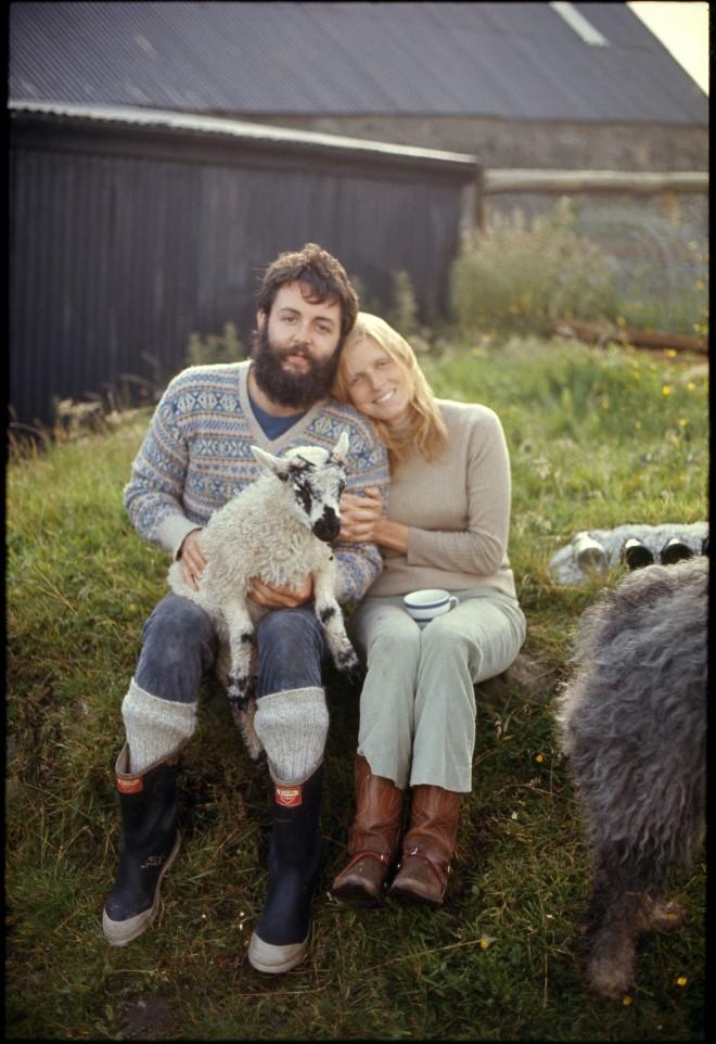 Photo of Paul and Linda McCartney