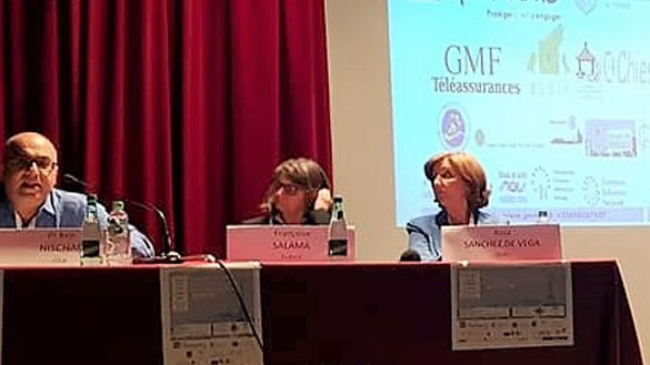 Panel in                                                           front of                                                           screen at                                                           European                                                           Aniridia                                                           Conference                                                           2018