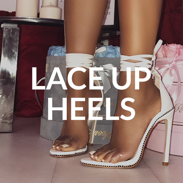 SHOP LACE UP HEELS