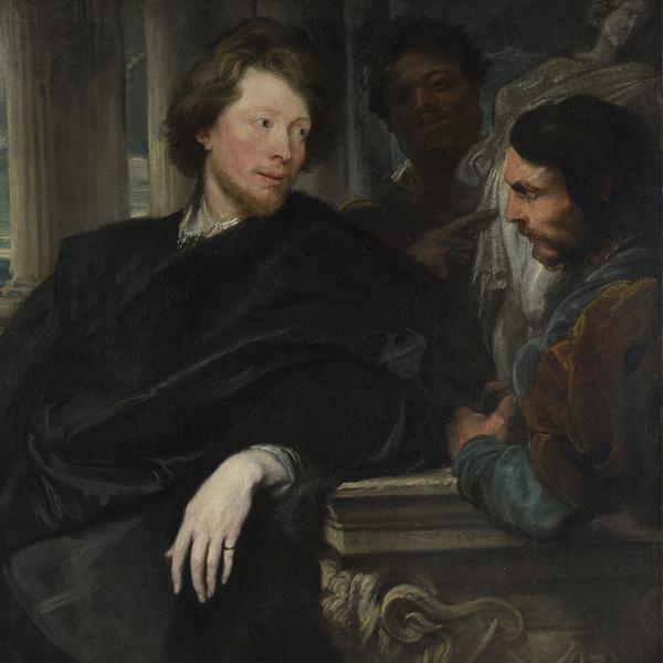 "Anthony van Dyck, ""Retrato de George Gage con dos asistentes"", probablemente 1622-3 © The National Gallery, Londres"