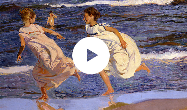 Detail from Joaquín Sorolla, 'Running along the Beach, Valencia', 1908 © Museo de Bellas Artes de Asturias. Col. Pedro Masaveu