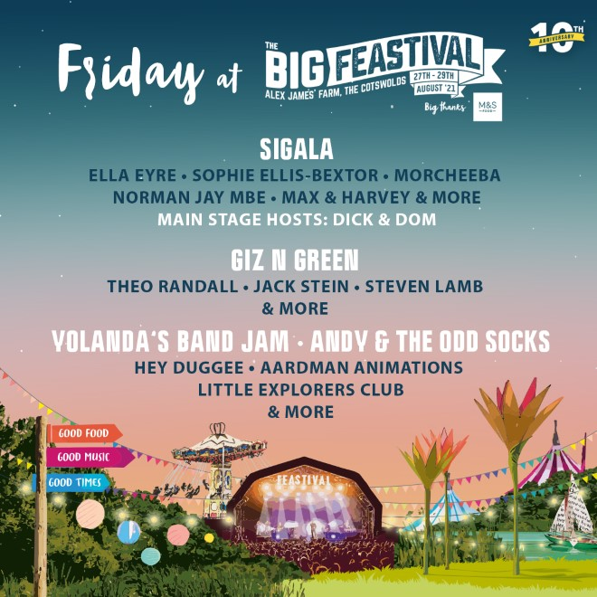 Big Feastival: NEW names added to our Friday full of festival fun! 11